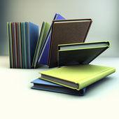 Books 3d render — Stock Photo