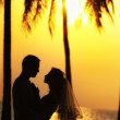 Wedding on a sunset — Stock Photo