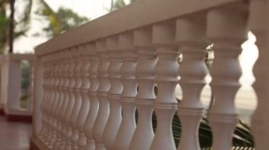 Balcony railings — Stock Video