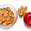 Cereal flakes and apple — Stock Photo