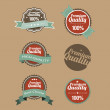 Vector Premium Quality labels in retro style - Stock Vector