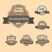 Collection Best Quality and Guarantee Labels — Stock Vector