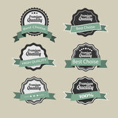 Vector Premium Quality labels in retro style — Stock Vector