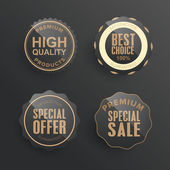 Collection of sale Labels — Stock Vector