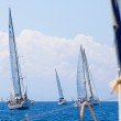 Boats Competitors During of sailing regatta Sail & Fun Trophy 2012 — Stock Photo #12432741