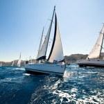 Boats Competitors During of sailing regatta Sail & Fun Trophy 2012 — Stock Photo #12432746
