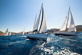 Boats Competitors During of sailing regatta Sail & Fun Trophy 2012 — Stock Photo