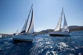 Lodě konkurenty během plavby regatta plachtu & fun trophy — Stock fotografie