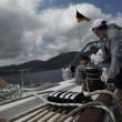 Stock Video: Sailors participate in sailing regattSail and Fun Trophy 2012