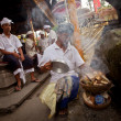 Stock Photo: Melasti Ritual before Balinese Day of Silence in Ubud, Bali, Indonesia.