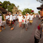 Melasti Ritual before Balinese Day of Silence in Ubud, Bali, Indonesia. — Stock Photo #12584302