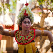 Young girl performs a classic national Balinese dance Barong — Stock Photo #12585065