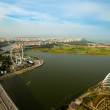 Stock Photo: Singapore, river Hongbao view from roof MarinBay Hotel
