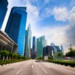 Marina Bay - Singapore business district — Stock Photo
