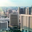 New modern buildings near to the historical centre of Singapore. — Stock Photo