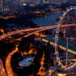 View of Singapore in the night time. — Stock fotografie