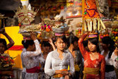 Melasti Ritual before Balinese Day of Silence in Ubud, Bali, Indonesia. — Foto Stock