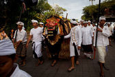Melasti Ritual before Balinese Day of Silence in Ubud, Bali, Indonesia. — 图库照片