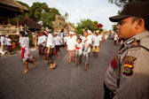 Melasti Ritual before Balinese Day of Silence in Ubud, Bali, Indonesia. — Photo