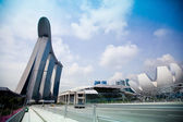 Marina Bay Sands Hotel in day on Singapore. — Stock Photo