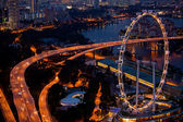 View of Singapore in the night time. — Stock Photo