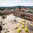 Стоковое фото: View of old town of Cracow, old Sukiennice, Poland