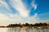 вавельский замок солнечный день в кракове, польша — Стоковое фото