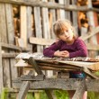 Lovely child in farm. — Stock Photo #12677425
