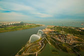 Singapore, river Hongbao view from roof Marina Bay Hotel — Stock Photo