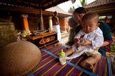 Сeremonies on Bali, Indonesia. — Stock Photo
