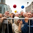 Opposition activists and supporters take part in an anti-Putin protest - Stock Photo