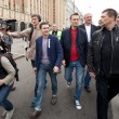 Opposition leaders Ilya Yashin and Alexei Navalny — Stock Photo