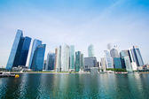 Skyscrapers of business district in Singapore City. — Stock Photo