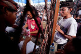 Balinesiska traditionell tuppfäktning — Stockfoto