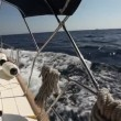 Sailing in the wind through the waves (HD) — Vídeo Stock