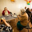 Day of Health in Center of social services for pensioners and the disabled - Stock Photo