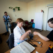 Stock Photo: Day of Health in Center of social services for pensioners and the disabled