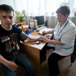 Day of Health in Center of social services for pensioners and the disabled — Foto de Stock