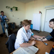 Day of Health in Center of social services for pensioners and the disabled — Photo