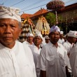 Melasti Ritual is performed before Nyepi - a Balinese Day of Silence — Stockfoto