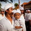 Melasti Ritual is performed before Nyepi - a Balinese Day of Silence — Zdjęcie stockowe