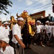 Melasti Ritual is performed before Nyepi - a Balinese Day of Silence — Stock Photo