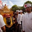 Melasti Ritual is performed before Nyepi - a Balinese Day of Silence — ストック写真
