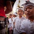 Melasti Ritual is performed before Nyepi - a Balinese Day of Silence — Foto de Stock