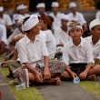 Melasti Ritual is performed before Nyepi — Stock Photo
