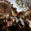 Performing Melasti Ritual before Nyepi — Foto Stock