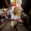 Melasti Ritual is performed before Nyepi — Zdjęcie stockowe