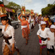 Stock Photo: Melasti Ritual is performed before Nyepi