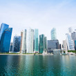 wide panorama of downtown skyline singapore — Stock Photo