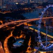Singapore city skyline at night time. — Stock Photo